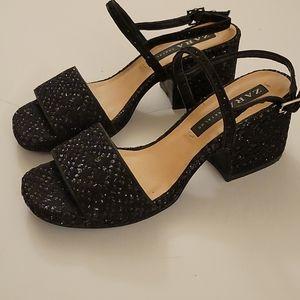 ZARA TRF Mid Heel Sandals